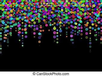 couleur, lumière, résumé, noir, taches