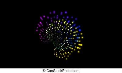 couleur, lumière, résumé, rotation, rayon