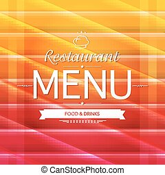 couleur, menu, conception, restaurant