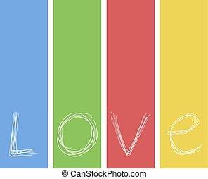 couleur, message, amour