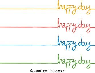 couleur, message, jour, heureux