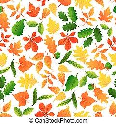 couleur, modèle, feuilles, seamless, fond