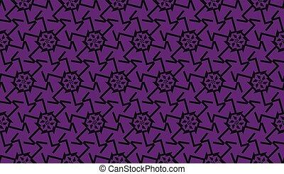 couleur, mode, triangles, seamless, 2., vecteur, intérieur, color., maison, 1, dépendance, illustration., print., original, style., fond, papier peint, pourpre, vous