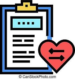 couleur, monde médical, coeur, icône, vecteur, illustration...
