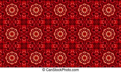 couleur, mosaïque, rouges