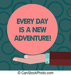 couleur motivation, photo, logo, ton, note, business, écriture, adventure., début, nouveau, cercle, posters., offrande, projection, hu, chaque, main, jour, solide, jours, analyse, showcasing, positivism