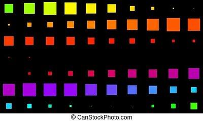 couleur, mouvement, carrée, matrice, fond