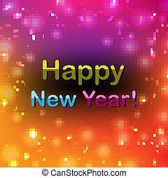 couleur, nouveau, heureux, affiche, année