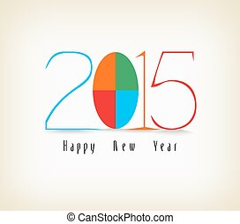 couleur, nouveau, heureux, conception, année