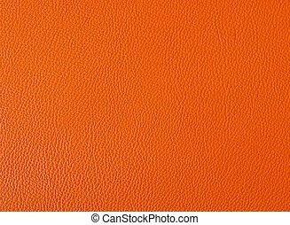 couleur orange, fond, cuir