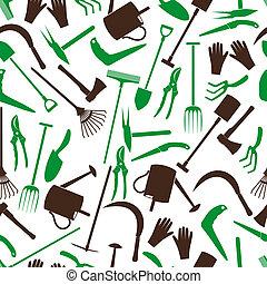 couleur, outils jardinage, eps10, modèle