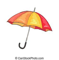 couleur parapluie, isolé, illustration, vecteur, icône