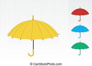 couleur, parapluies