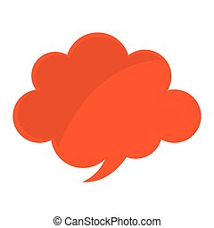 couleur, parole, message, bulle, icône