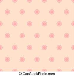 couleur pastel, modèle, polka, seamless, rose, point