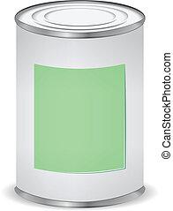 couleur, peindre étain, boîte