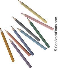 couleur, peinture, crayon