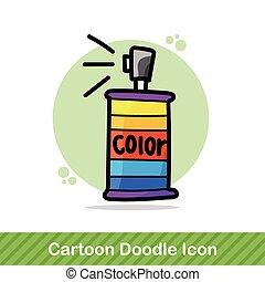 couleur, peinture, pulvérisation, griffonnage