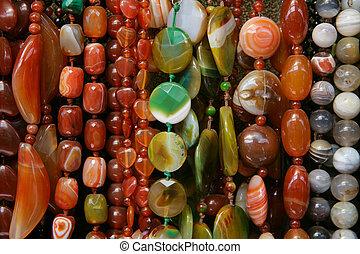 couleur, perles, formulaire, différent