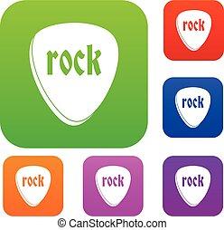 couleur, pierre, ensemble, collection, rocher
