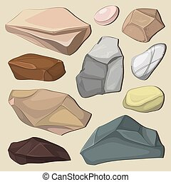 couleur, pierres, ensemble