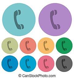 couleur, plat, appeler, icônes