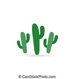 couleur, plat, cactus, icône