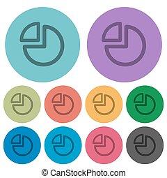 couleur, plat, diagramme, tarte, icônes