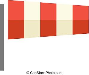 couleur, plat, windsock, -, icône