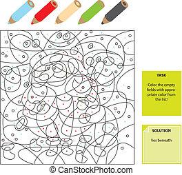 couleur, points, jeu, visuel
