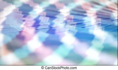couleur, presse, palette, rotation
