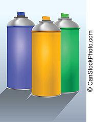 couleur, pulvérisation
