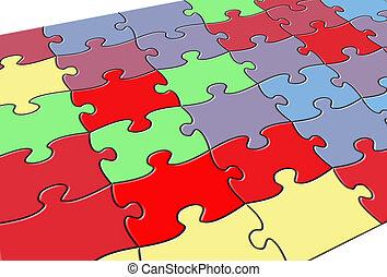 couleur, puzzle