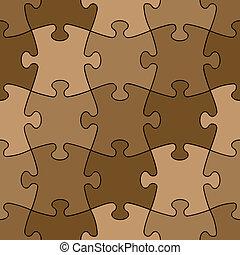 couleur, puzzle, -, seamless, facile, changement