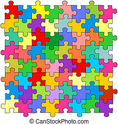 couleur, puzzles, seamless, fond
