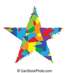 couleur, résumé, étoile