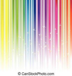 couleur, résumé, arc-en-ciel, fond, étoiles, raie