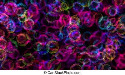 couleur, résumé, bulle, 4k