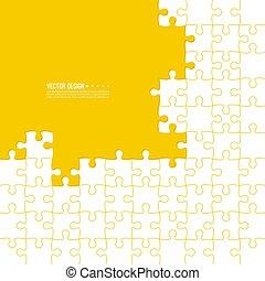 couleur, résumé, fait, fond, jigsaw.