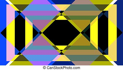 couleur, résumé, fond, géométrique