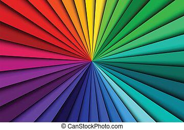 couleur, résumé, lignes, spectre, fond