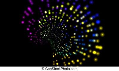 couleur, résumé, lumière, rotation, rayon