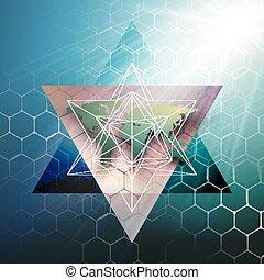 couleur, résumé, research., conception, hexagonal, technologie, concept., modèle, arrière-plan., connecter, médecine, points, molécule, sombre, mondiale, structure, monde médical, decoration., lignes, carte, vecteur, vert, chimie