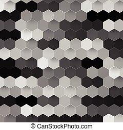couleur, résumé, vecteur, hexagonal., 3d