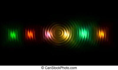 couleur, rayon, disco, lumière néon