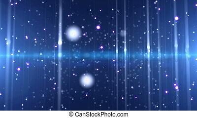 couleur, rayon léger, particule, espace