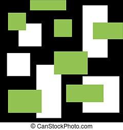 couleur, rectangle., résumé, fond