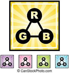couleur, rgb, spectre