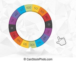 couleur, roue, fortune