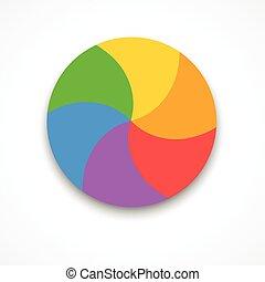 couleur, roue, vecteur